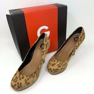 GUESS Leopard Print Heels 8M